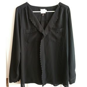 Anthropologie HD in Paris Scalloped Remi Blouse!